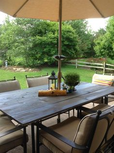 Diy Patio, Backyard Patio, Patio Table, Rustic Patio, Wooden Table Top,  Aluminum Table, Pinterest Diy, Glass Tables, Glass Table Top Replacement