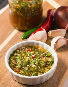 thai dipping sauce - glebe kitchen Hot, sweet, salty and sour. This Thai dipping sauce has all the classic flavours of Southeast Asian cooking. Use it with any grilled meat or poultry. Thai Dipping Sauce, Thai Sauce, Thai Chili Fish Sauce Recipe, Asian Dipping Sauces, Asian Hot Sauce, Laos Food, Marinade Sauce, Thai Dishes, Think Food