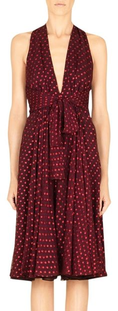 Gucci Bordeaux Silk Chiffon Front Knot Detail Polka Dot Dress. Free shipping and guaranteed authenticity on Gucci Bordeaux Silk Chiffon Front Knot Detail Polka Dot Dress at Tradesy. Try promo code GIFT25 to get $25 off your purchase...
