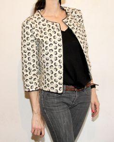 Veste Bernadette en tissus hirondelle de Fifi Mandirac pour Atelier Brunette par Jolies bobines
