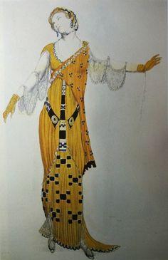 "Бакст Лев ""Эскиз женского костюма"" 1912 Бумага, гуашь"