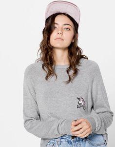 Pull pièce licorne - Maille - Vêtements - Femme - PULL&BEAR France