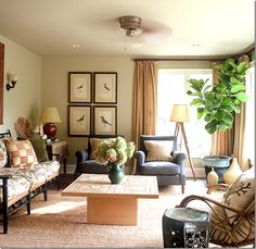 Love, love, love this room!  The muted colors, the mix of masculine and feminine elements..all of it.  Lucas Studio