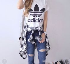 Adidas Outfit Ideas Pictures adidas outfits super cute adidas tee we love adidas at Adidas Outfit Ideas. Here is Adidas Outfit Ideas Pictures for you. Adidas Outfit Ideas 36 adidas pants outfit ideas super combo of comfort and. Look Fashion, Teen Fashion, Fashion Clothes, Runway Fashion, Fashion Outfits, Womens Fashion, Fashion Trends, White Fashion, Korean Fashion
