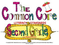 Second Grade Common Core Literacy Posters -- for FREE!