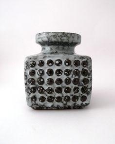 VEB Haldensleben vintage funky dotted vase  by CzechGlassCollector