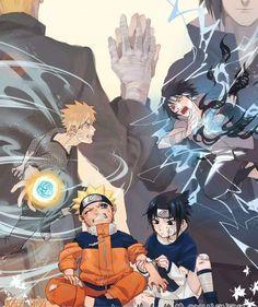 Team 7 - Uzumaki Naruto X Uchiha Sasuke Naruto Vs Sasuke, Anime Naruto, Naruto And Sasuke Wallpaper, Wallpapers Naruto, Wallpaper Naruto Shippuden, Naruto Cute, Naruto Shippuden Anime, Boruto, Sasunaru