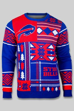 The best gift for Buffalo Bills fans! I need this ugly christmas sweater <3