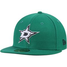 new style 53e28 d260d Dallas Stars New Era Team Color 59FIFTY Fitted Hat - Green Dallas,  Snapback, Baseball
