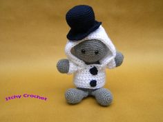 Inchoate Snowman Crochet Pattern by ItchyCrochetDesigns on Etsy