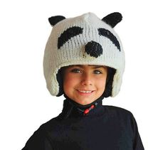 Copricasco sci panda bambino