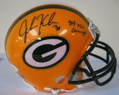 "John Kuhn "" SB XLV Champs "" Signed Green Bay Packers Mini Helmet AUTO JSA COA"