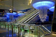 Estação de metrô em Dubai.