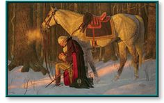 "Artist: Arnold Friberg Year: 1992 Painting: ""The Prayer at Valley Forge"" - we have this one hanging in the office....love the feeling the light gives"