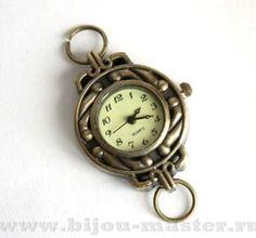 Часы-основа кварцевые под античную латунь 36х25мм орнамент №2 арт.704068
