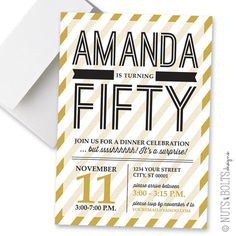 Adult Birthday Party Invite // 5x7 invite for any year by TheMombot, $16.00