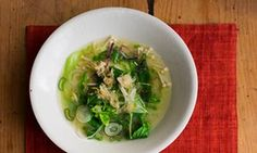 Miso vegetable soup: 'Quietly sustaining rather than filling.'
