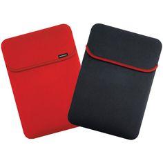 """Merkury 10.2"""" Reversible Notebook Sleeve (black And Red)"""