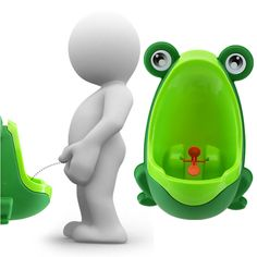 Toilet Training that is fun - Junior will love taking aim at this Frog! FREE SHIPPING! - limited stocks The Frog allows boys to train standing up from the start, and is designed for the little man who
