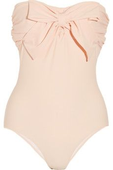 Bow-embellished bandeau swimsuit  @clothing