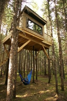 Kabania Eco-Resort In Québec...treehouses for adults. Lanaudière, Québec. I want to go here!