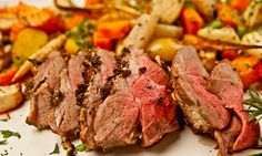 Rosemary Crusted Leg of Lamb with Root Vegetables