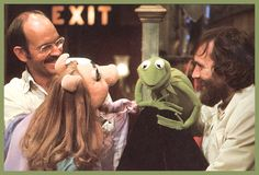 Frank Oz, with Miss Piggy, and Jim Henson, with Kermit the Frog Jim Hanson, Frank Oz, Marry Jane, Sesame Street Muppets, Fraggle Rock, The Muppet Show, Miss Piggy, Kermit The Frog, The Dark Crystal