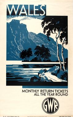 Original Vintage Posters -> Travel Posters -> Wales GWR - AntikBar