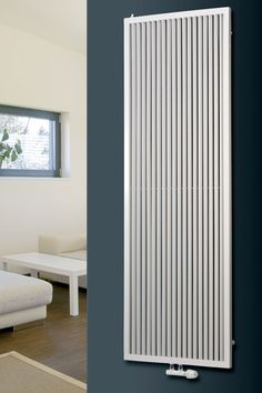 EUCOTHERM CORONA WHITE VERTICAL DESIGNER RADIATOR 1800MM X 460MM SINGLE PANEL