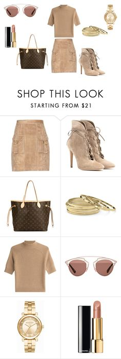 """""""Casual..:)"""" by grazialazzaro ❤ liked on Polyvore featuring Balmain, Gianvito Rossi, Louis Vuitton, Palm Beach Jewelry, Theory, Christian Dior, Michael Kors and Chanel"""