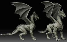 Dragon sculpt to practice my Zbrush skills :D