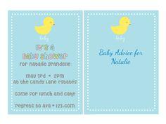 duck baby shower invites