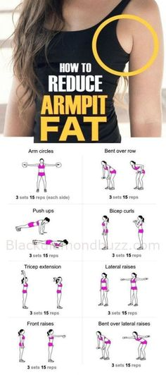 How to Get Rid of Armpit Fat Fast Healthy Society. armpit fat workout armpit fat workout no equipment armpit fat exercises armpit fat workout arm pits armpit fat workout double chin Armpit Fat Solutions by alexandria Fitness Tips, Fitness Models, Fitness Motivation, Health Fitness, Yoga Fitness, Muscle Fitness, Workout Fitness, Physical Fitness, Free Fitness