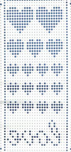 Carte jacquard pour machine à tricoter, motif Saint Valentin