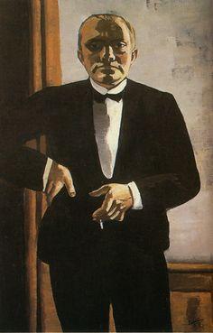 Self Portrait w/ Hand on Hip  by Max Beckmann (German,1884-1950) http://americanpicturelinks.com/Artists4.htm