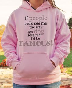 We would all be famous if the world could see us through our dogs eyes. Quality hoodies from Gingybeans Pet Prints.