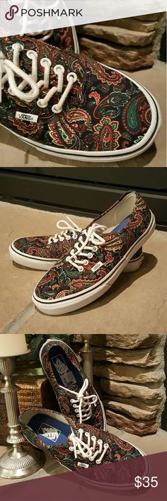 Vans Paisley Paisley print Van s. Excellent condition! Wore twice for total  of approximately 10 369f69c579