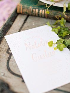 Wedding invite by Pretty Paper. Photo: Studio 56 Photography