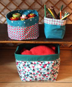 Tuto: the cloth basket - I do it myself - Knitting 01 Coin Couture, Baby Couture, Couture Sewing, Clothes Basket, Creation Couture, Sewing Projects For Beginners, Diy And Crafts, Sewing Hacks, Sewing Tips