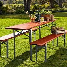 "Williams Sonoma Vintage Biergarten Table - $600  Dimensions: able: 76""–80"" x 18""–20"" x 30"" high"