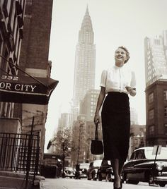 Grace Kelly in New York, 1950s  via vintagebreeze