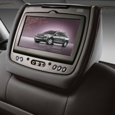 2016 RSE, Head Restraint System, Cloth, Dark Titanium: The Dual DVD Rear-Seat Entertainment System features dual LCD monitors that are mounted on the rear posts of the front seat head restraints.