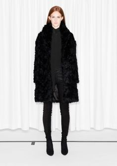 3df07223362 Jackets   coats -   Other Stories GB. Fur CapeBlack Faux ...