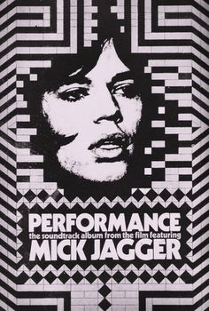 Performance Poster  Film from 1968 starring Mick Jagger  Artist unknown