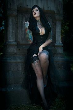 Clothes, Shoes & Accessories Earnest Per Una Black Nude Lace Skirt Uk 12 Goth 29 Inches Long Lined Witch Grunge