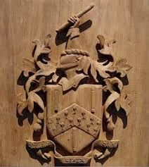 Image result for heraldry in wood