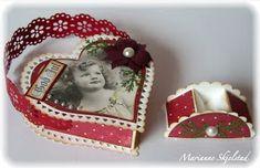 """Det blir litt jul fra meg igjen i dag. På en reise i """"Betty"""" `s fantastiske blogg fant jeg en kjempesøt julekruv, med en liten holder. Mått..."""