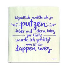 Spüllappen – Lappen weg Since the washing and cleaning makes suddenly fun again! Cute Text, The Words, Funny Facts, Happy Thoughts, New Years Eve, Good To Know, Letter Board, Hand Lettering, Texts