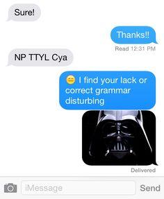 The correct way to handle texting language