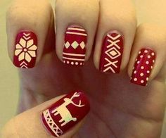 Christmas nails #DearTopshop